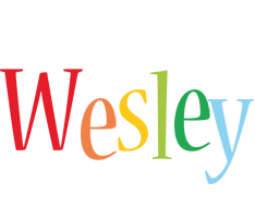 Wesley birthday logo