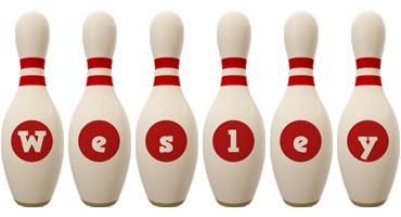 Wesley bowling-pin logo