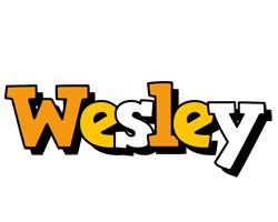 Wesley cartoon logo