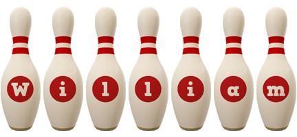 William bowling-pin logo