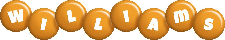 Williams candy-orange logo
