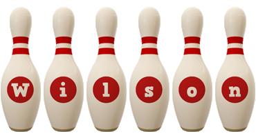 Wilson bowling-pin logo
