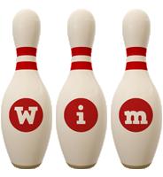 Wim bowling-pin logo