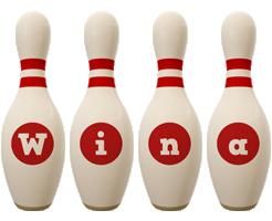 Wina bowling-pin logo