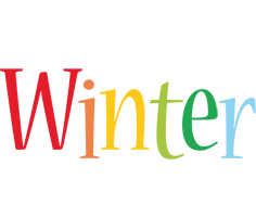 Winter birthday logo