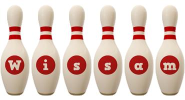Wissam bowling-pin logo