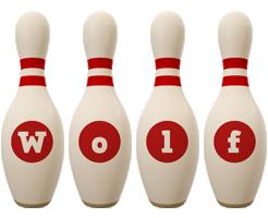 Wolf bowling-pin logo