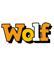 Wolf cartoon logo