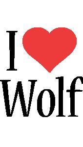 Wolf i-love logo