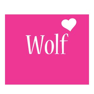 Wolf love-heart logo