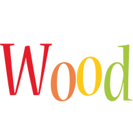 Wood birthday logo