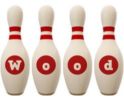 Wood bowling-pin logo