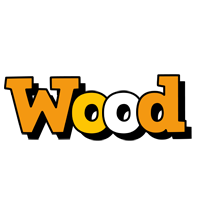 Wood cartoon logo