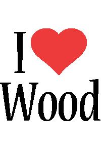 Wood i-love logo