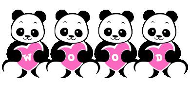 Wood love-panda logo