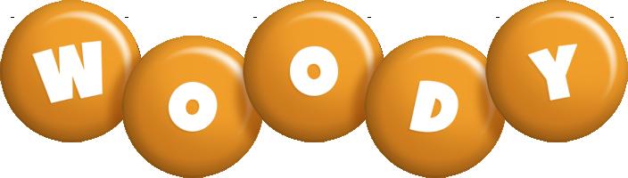 Woody candy-orange logo