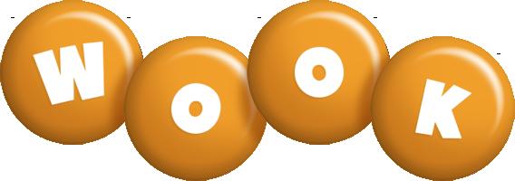 Wook candy-orange logo