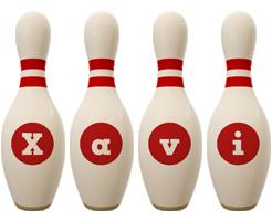 Xavi bowling-pin logo