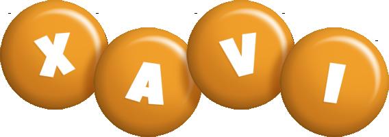 Xavi candy-orange logo