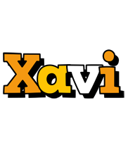 Xavi cartoon logo