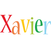 Xavier birthday logo
