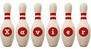 Xavier bowling-pin logo