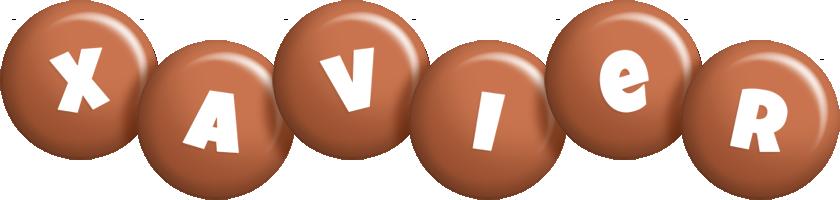 Xavier candy-brown logo
