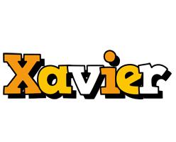 Xavier cartoon logo
