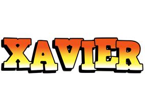 Xavier sunset logo