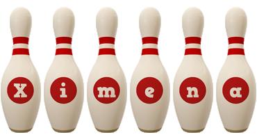 Ximena bowling-pin logo