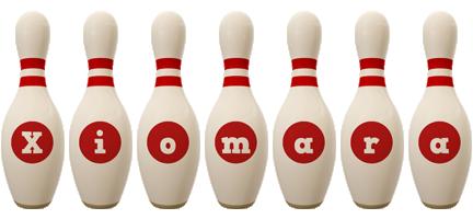 Xiomara bowling-pin logo