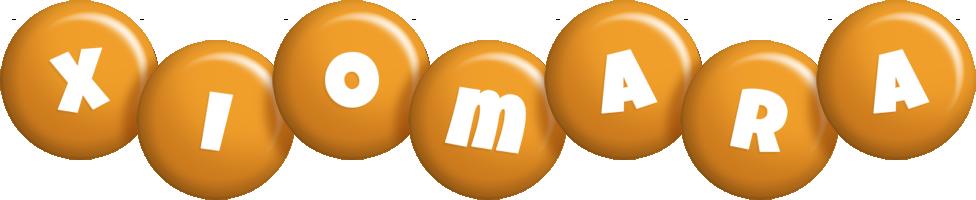 Xiomara candy-orange logo