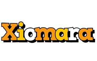 Xiomara cartoon logo