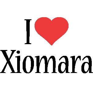 Xiomara i-love logo