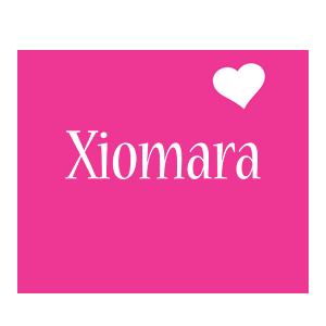 Xiomara love-heart logo