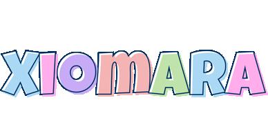 Xiomara pastel logo