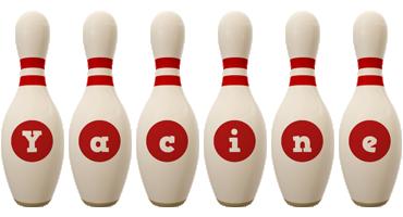Yacine bowling-pin logo
