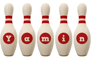 Yamin bowling-pin logo