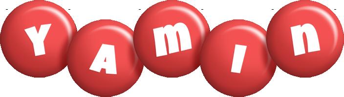 Yamin candy-red logo