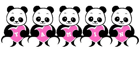 Yamin love-panda logo