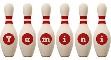 Yamini bowling-pin logo