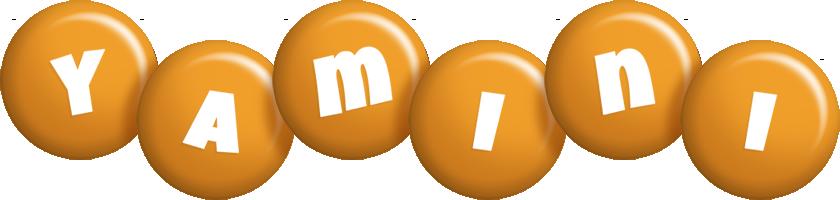 Yamini candy-orange logo