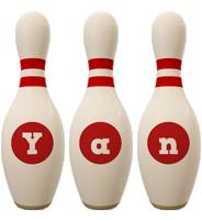 Yan bowling-pin logo
