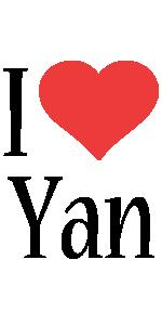 Yan i-love logo
