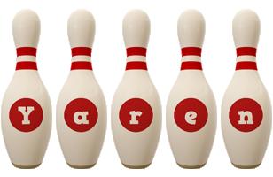 Yaren bowling-pin logo