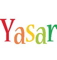Yasar birthday logo