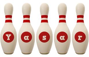 Yasar bowling-pin logo
