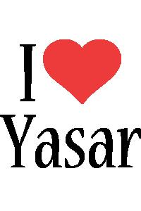 Yasar i-love logo