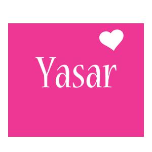 Yasar love-heart logo