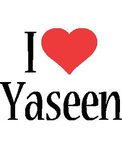 Yaseen i-love logo